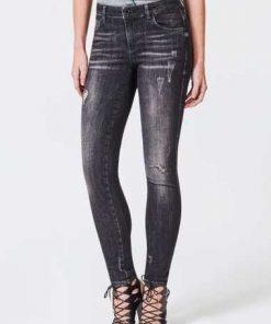 Jeans Skinny Details Abriebstellen
