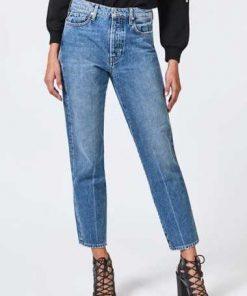 Jeans Regular Print Beinabschluss