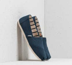 TOMS Wmn Classic Majolica Blue Heritage Canvas
