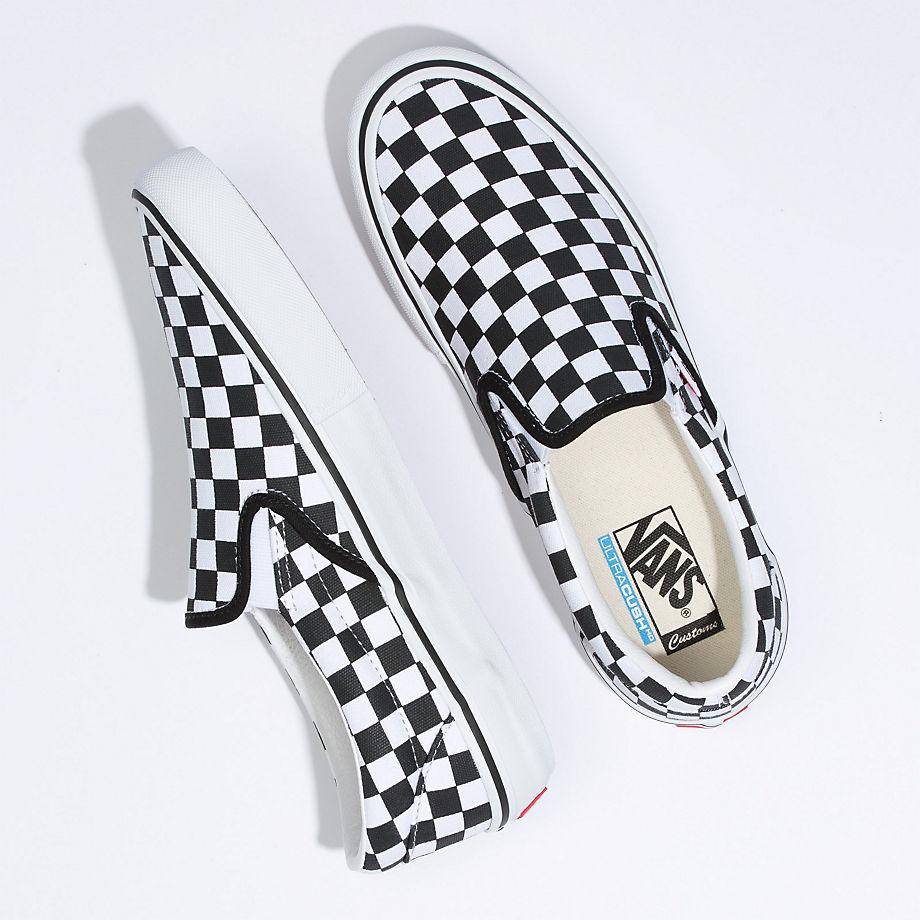 VANS Personalisierbare Checkerboard Slip-on Pro (checkerboard) Damen Weiß, Größe 38.5