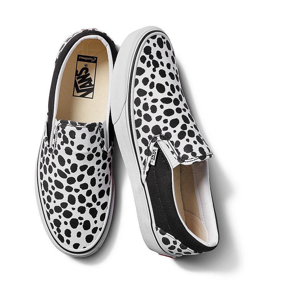 VANS Personalisierbare Dalmatian Slip-on (white/black/black) Damen Weiß, Größe 38.5