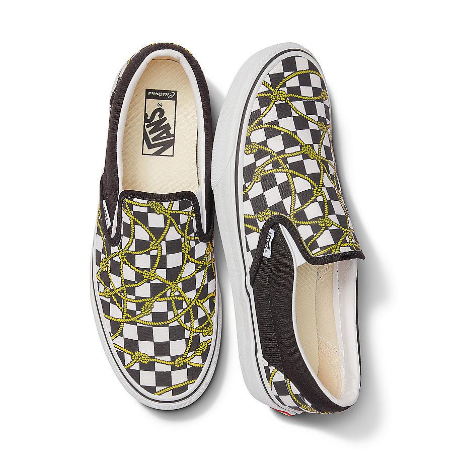 VANS Personalisierbare Checkerboard Ropes Slip-on (checkerboard) Damen Weiß, Größe 38.5