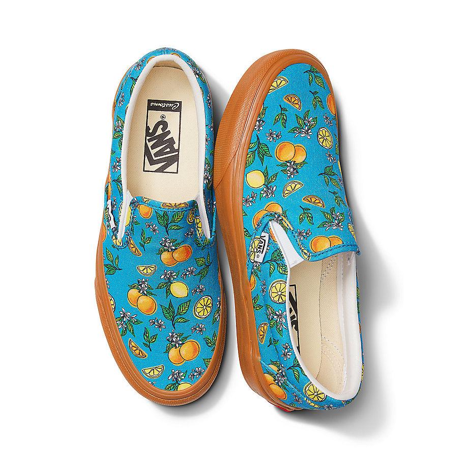 VANS Personalisierbare Citrus Picnic Slip-on (blau) Damen Blau, Größe 38.5