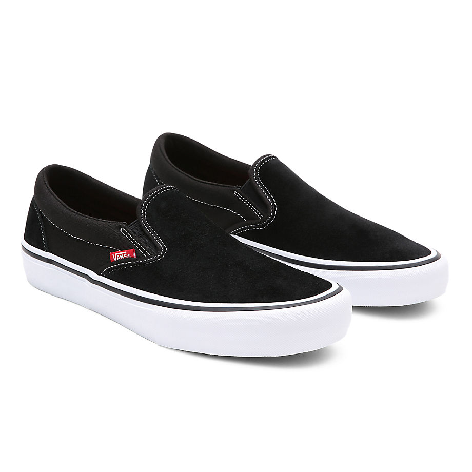 VANS Slip-on Pro Schuhe (black/white/gum) Damen Schwarz, Größe 34.5