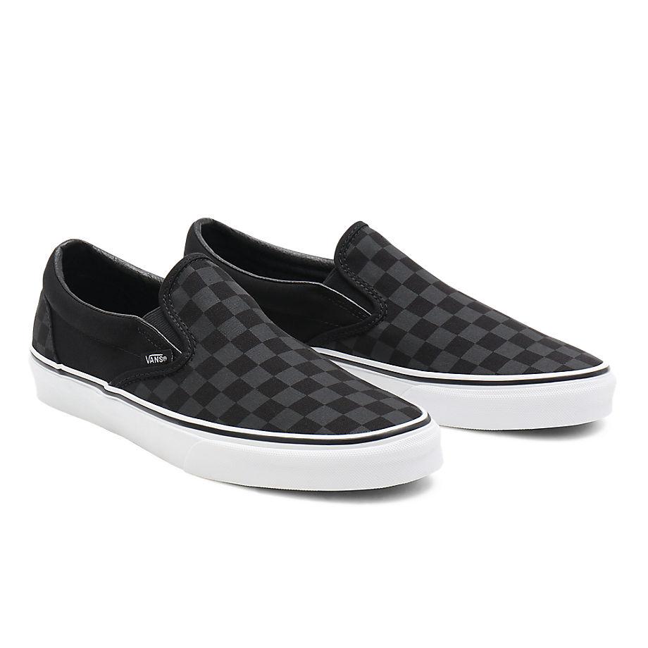 VANS Checkerboard Classic Slip-on Schuhe ((checkerboard)black/black) Damen Schwarz, Größe 34.5
