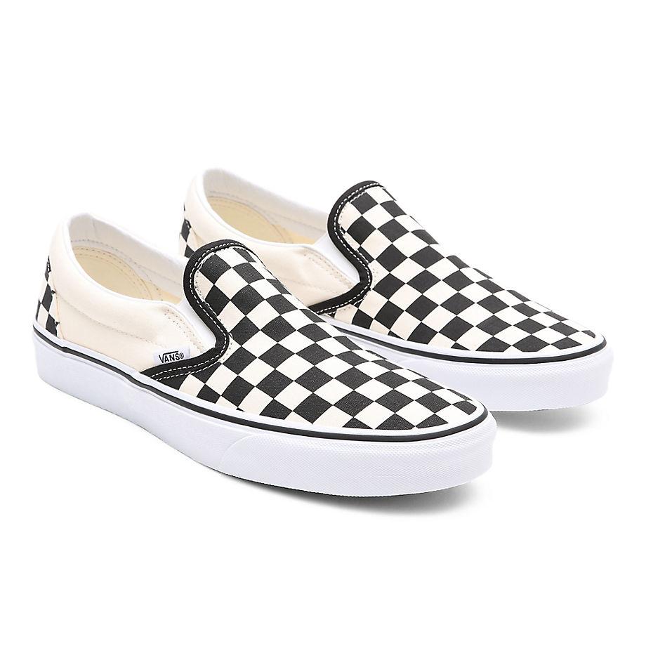 VANS Checkerboard Classic Slip-on Schuhe (blk&whtchckerboard/wht) Damen Weiß, Größe 34.5