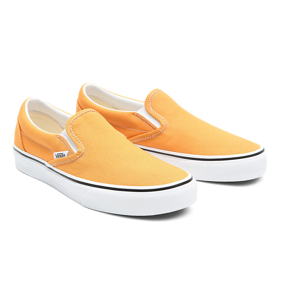 VANS Classic Slip-on Schuhe (golden Nugget/true White) Damen Gelb, Größe 34.5