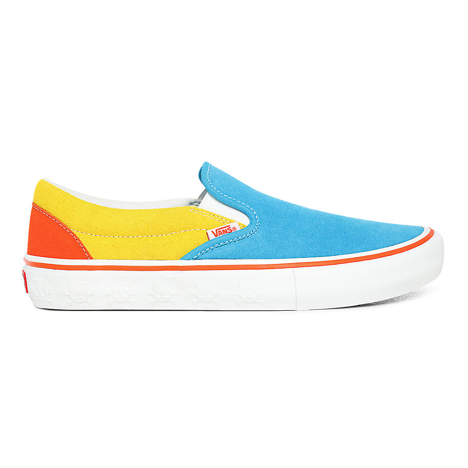 VANS Die Simpsons X Vans Slip-on Pro Schuhe ((the Simpsons) Blue/yellow) Damen Multicolour, Größe 34.5