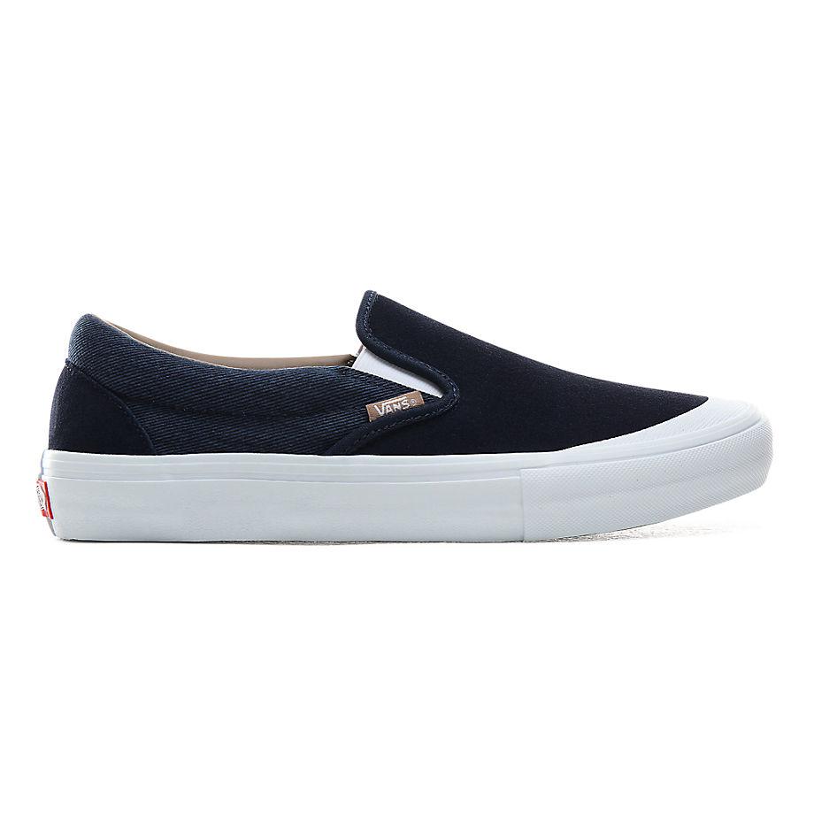 VANS Twill Slip-on Pro Schuhe ((twill) Dress Blues/portabella) Damen Navy, Größe 34.5