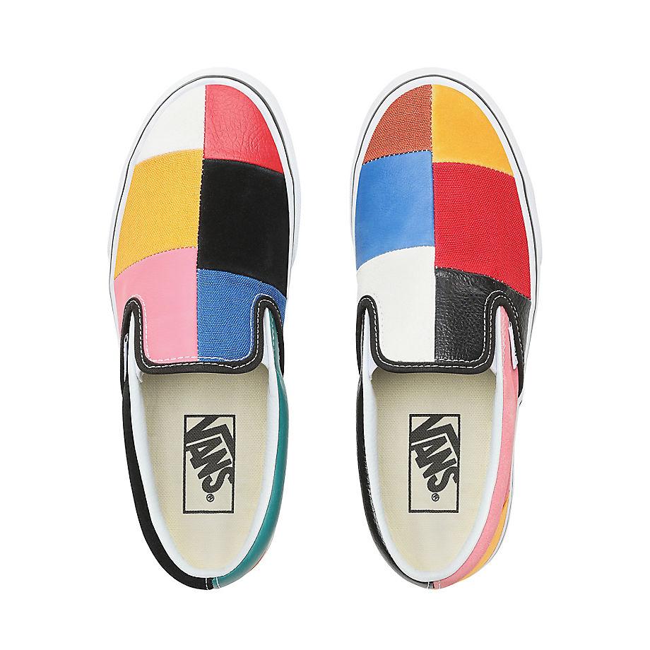 VANS Patchwork Slip-on Schuhe ((patchwork) Multi/true White) Damen Multicolour, Größe 34.5