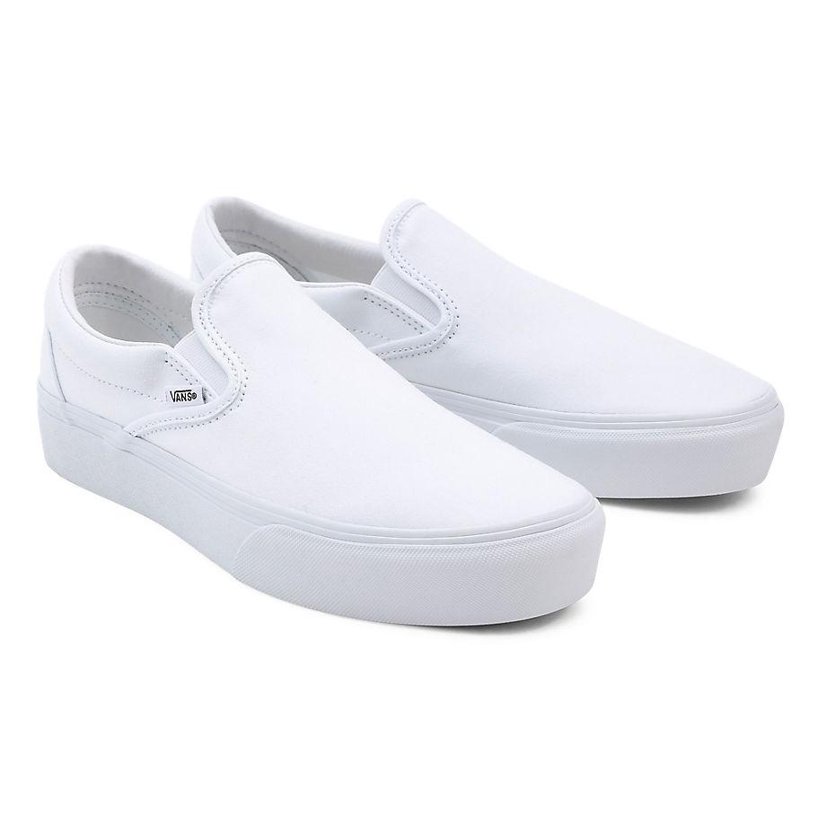 VANS Slip-on Plateauschuhe (true White) Damen Weiß, Größe 34.5