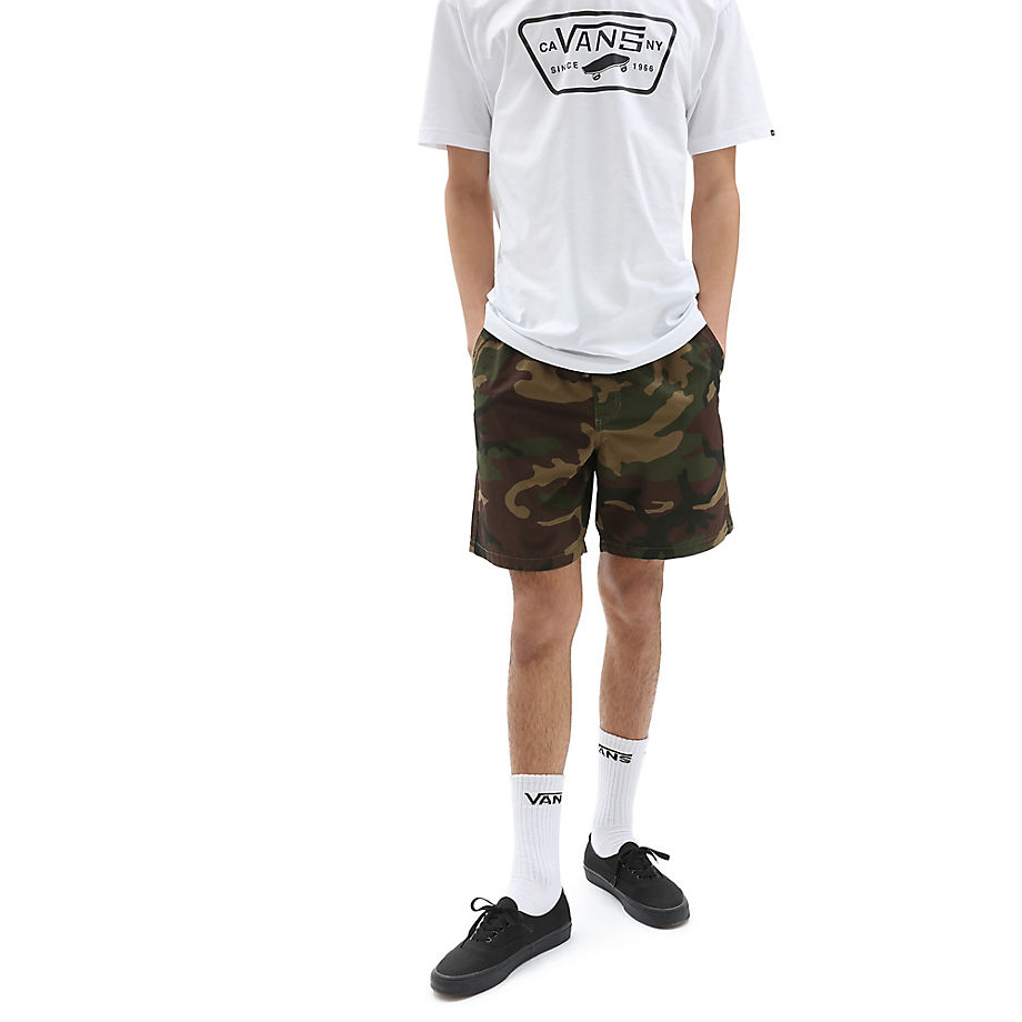 VANS Range Shorts, 46 Cm (camo) Herren Grün, Größe L