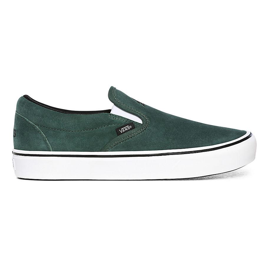 VANS Sixty Sixers Comfycush Slip-on Schuhe ((sixty Sixers) Pine Needle/white) Damen Grün, Größe 34.5
