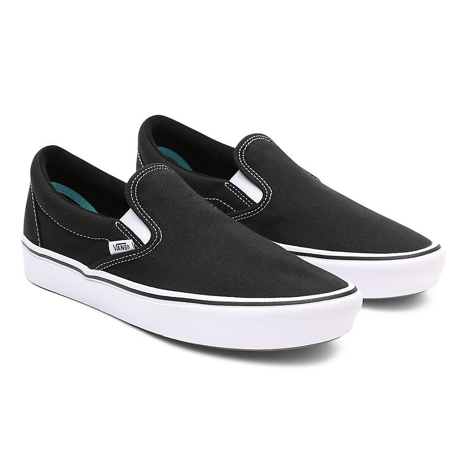 VANS Classic Comfycush Slip-on Schuhe ((classic) Black/true White) Damen Schwarz, Größe 34.5