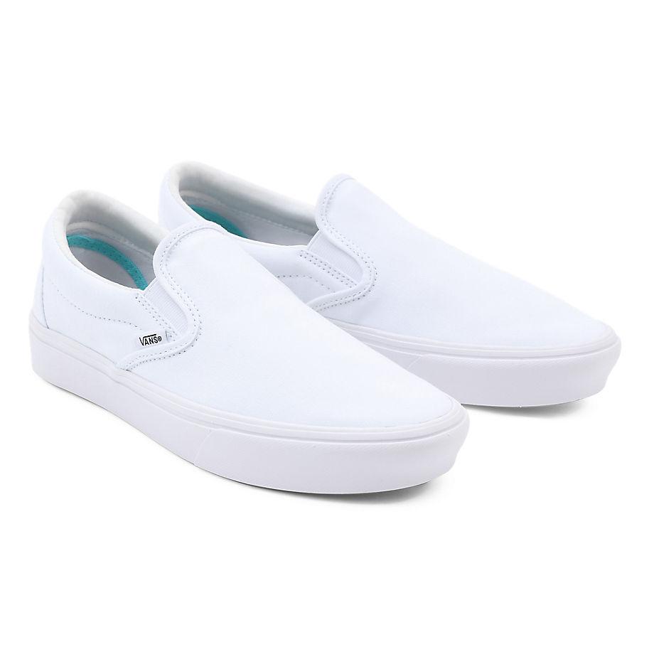 VANS Comfycush Slip-on Schuhe ((classic) True White) Herren Weiß, Größe 34.5