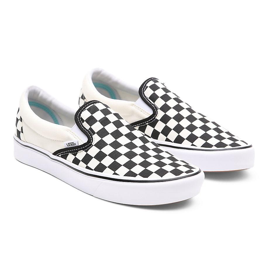 VANS Comfycush Slip-on Schuhe ((classic) Checkerboard) Damen Weiß, Größe 34.5