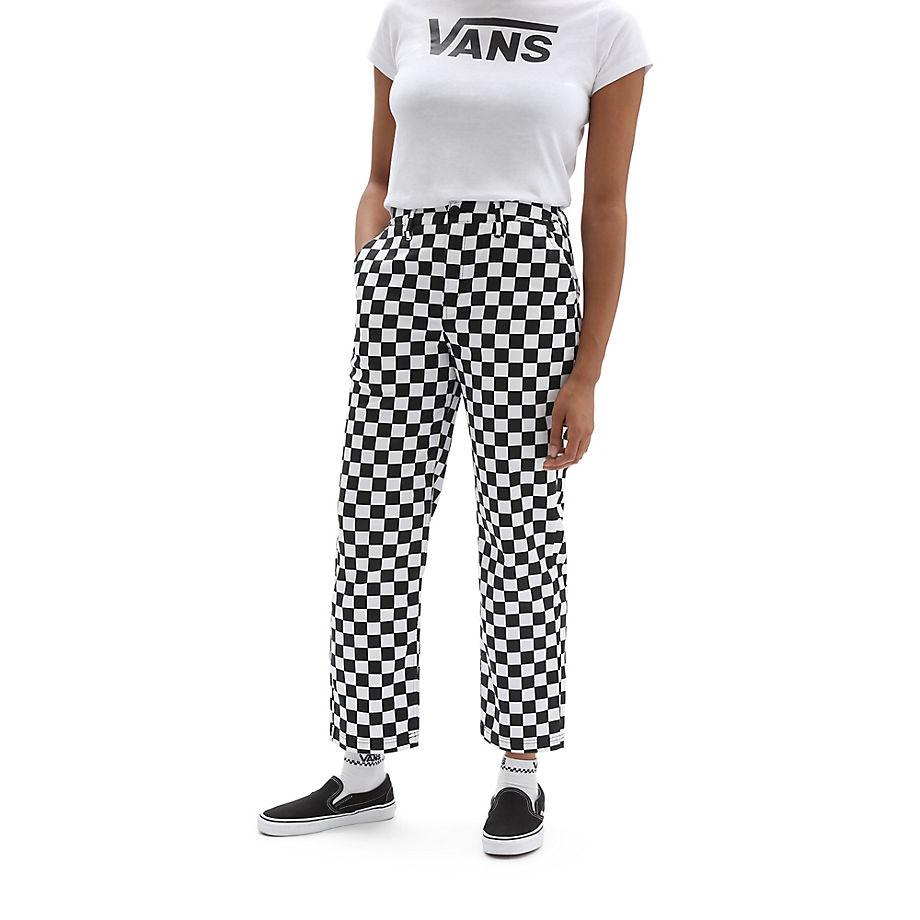 VANS Authentic Chinohose Mit Print (checkerboard) Damen Weiß, Größe 24