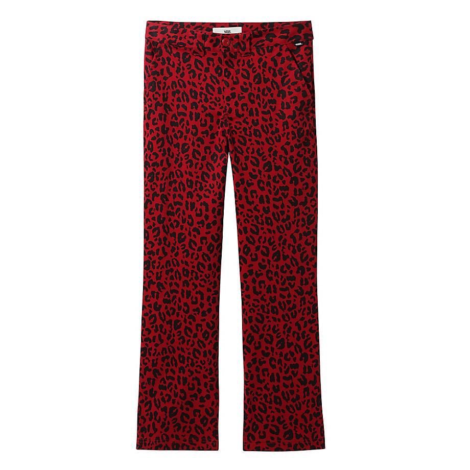 VANS Authentic Chinohose Mit Print (chili Pepper Leopard) Damen Rot, Größe 24