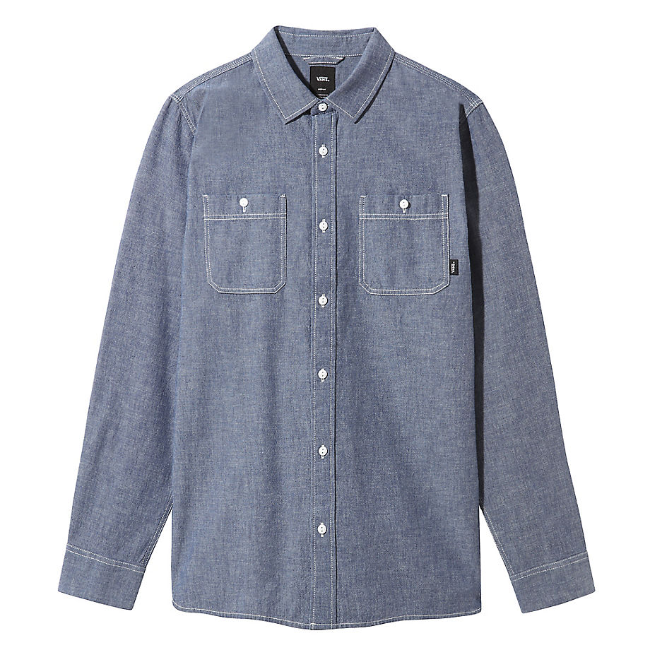 VANS Carlow Langarmhemd (dress Blues) Herren Blau, Größe L