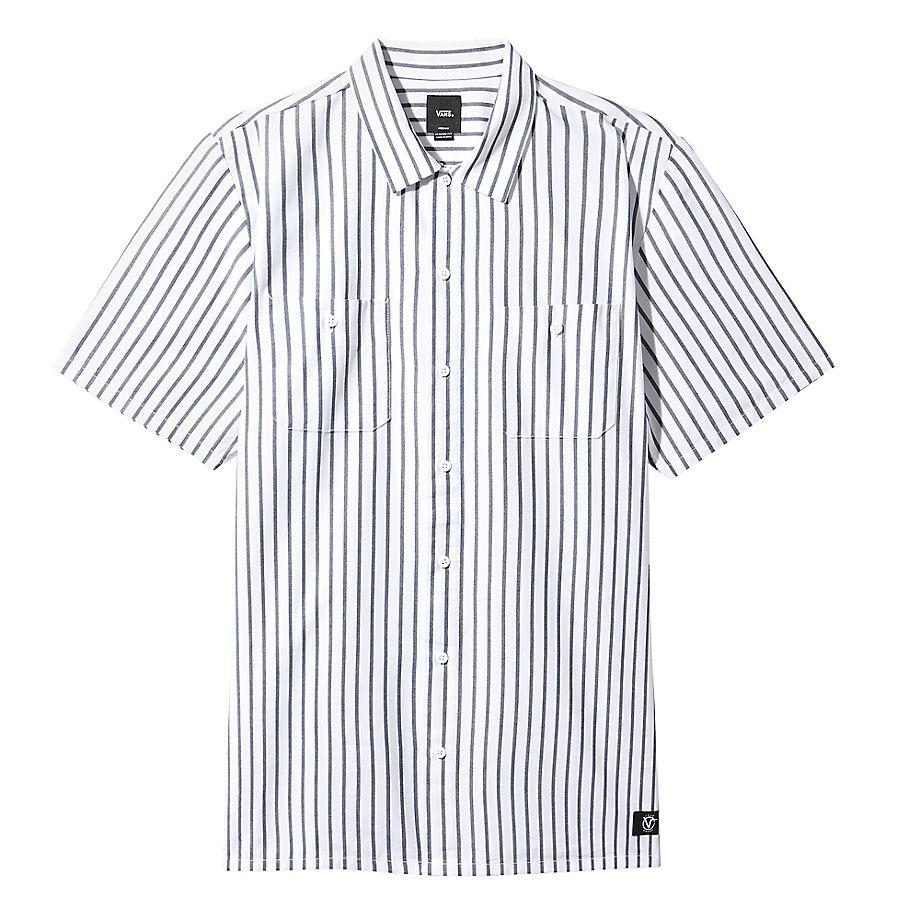VANS Rowan Zorilla Workwear Stripe Hemd (weiß) Herren Weiß, Größe L