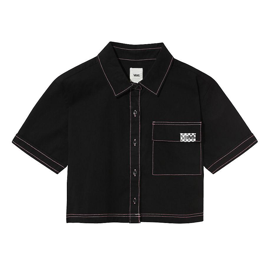 VANS Thread It Hemd (black) Damen Schwarz, Größe L
