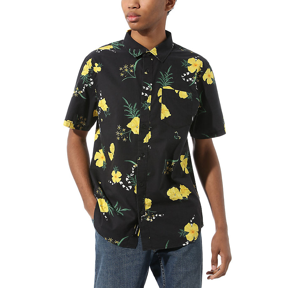 VANS Super Bloom Floral Button-down-hemd (black-super Bloom) Herren Schwarz, Größe L