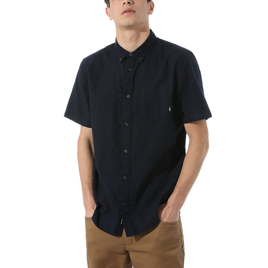 VANS Beachwood Button-down-hemd (black-dress Blues) Herren Schwarz, Größe L