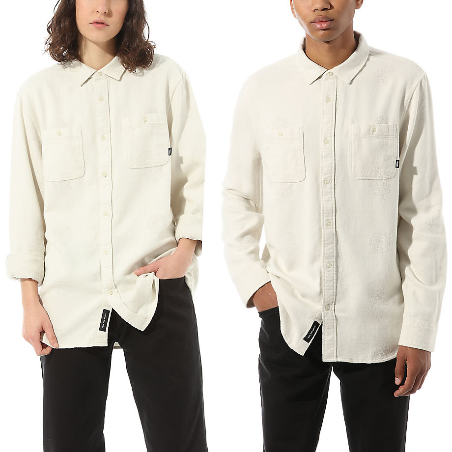 VANS Kyle Walker Long Sleeve Button-down-hemd (antique White) Damen Weiß, Größe L