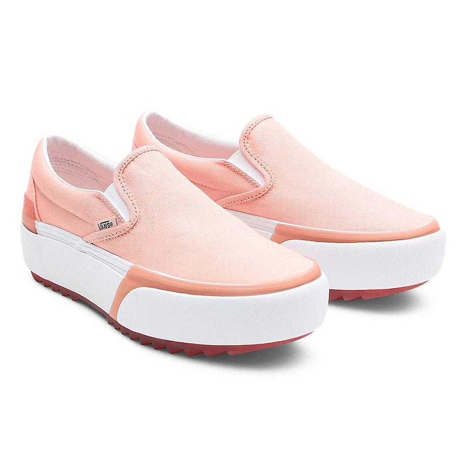 VANS Pastel Classic Slip-on Stacked Schuhe ((pastel) Peach Pearl/true White) Damen Rosa, Größe 34.5