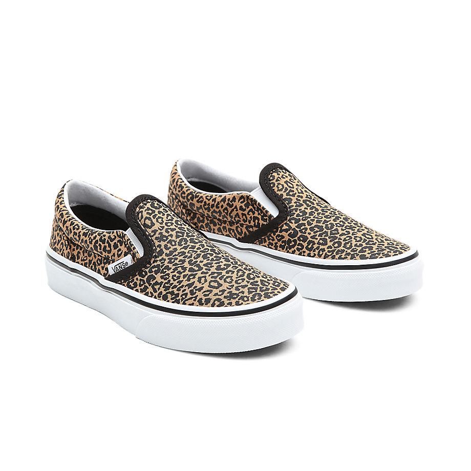 VANS Jugendliche Classic Slip-on Schuhe (8-14 Jahre) (leopard/black) Youth Schwarz, Größe 34.5