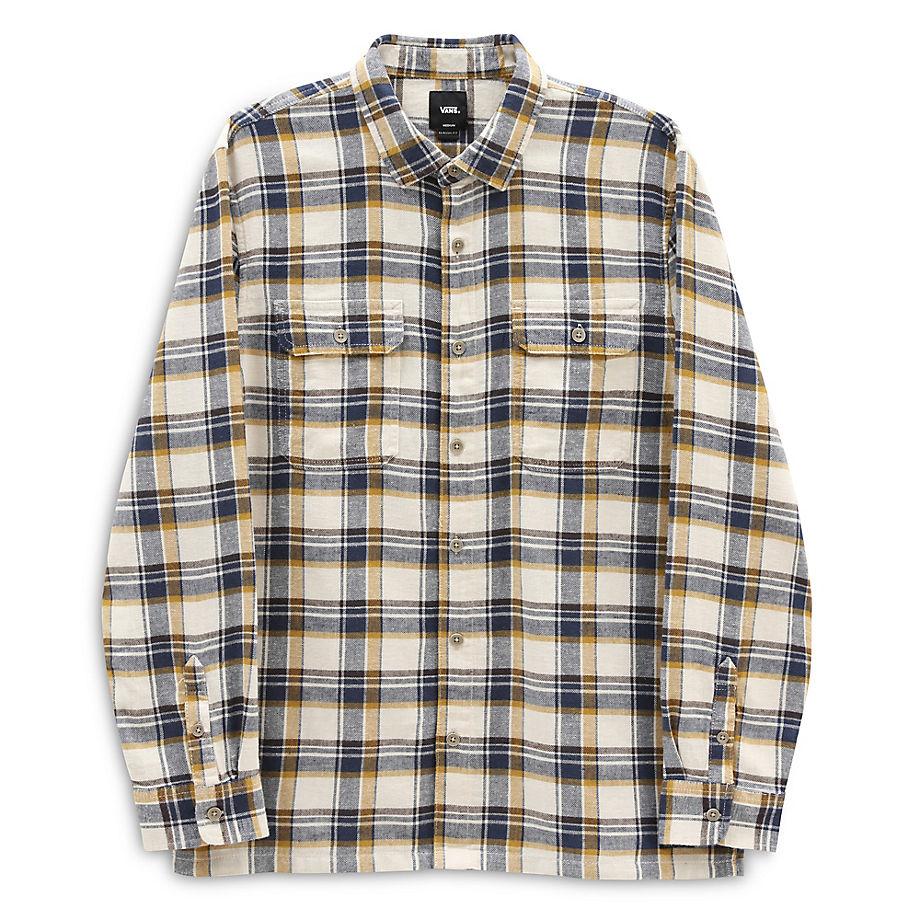 VANS Bloomfield Long Sleeve Button-down-hemd (natural) Herren Weiß, Größe L