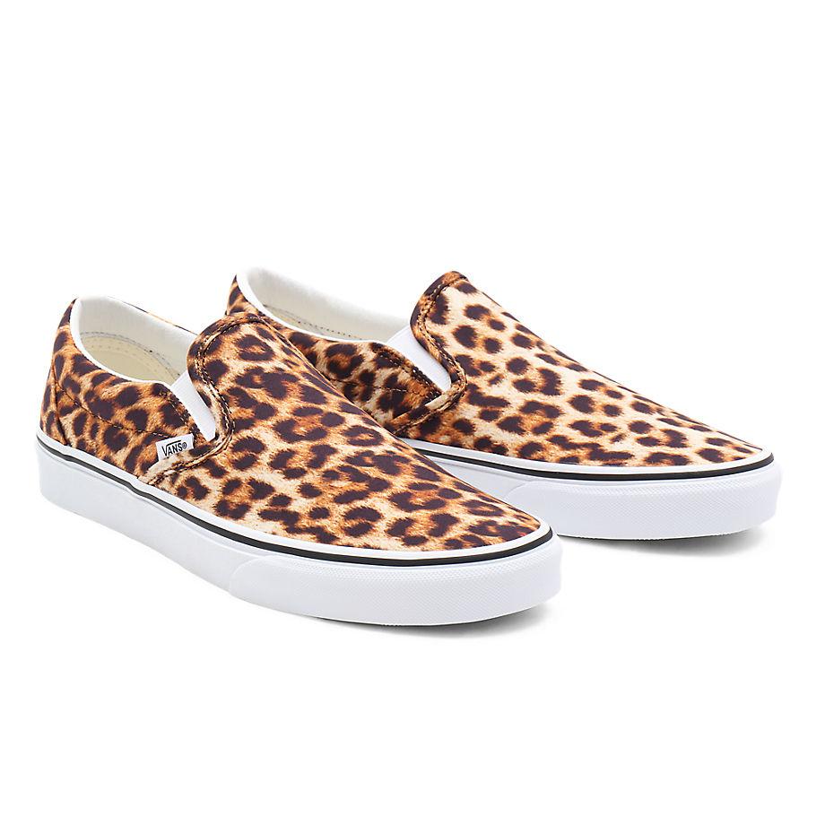 VANS Leopard Classic Slip-on Schuhe ((leopard) Black/true White) Damen Schwarz, Größe 35