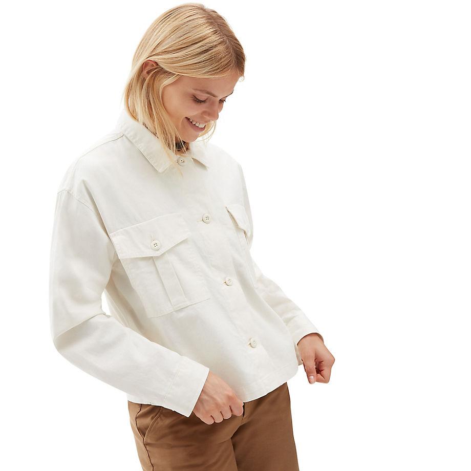 VANS Mixed Up Hemdjacke (marshmallow) Damen Weiß, Größe L