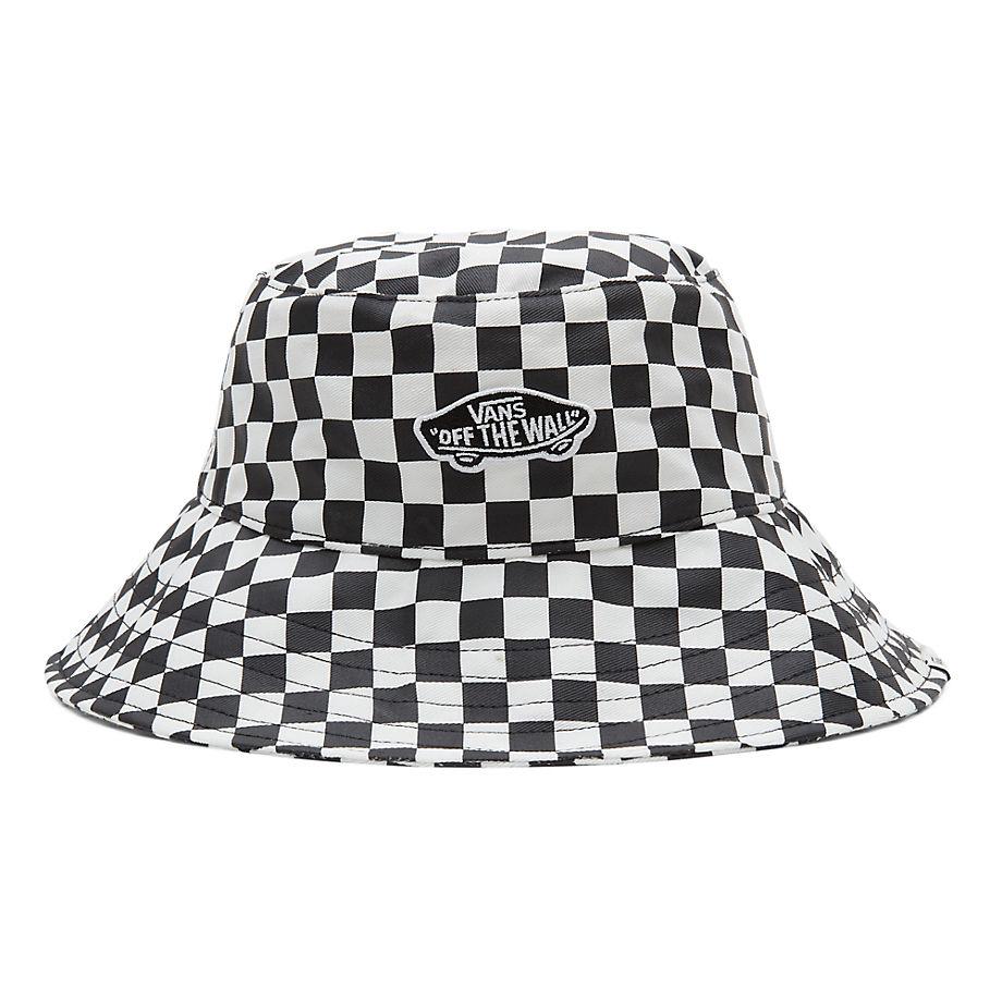 VANS Level Up Fischerhut (checkerboard) Damen Weiß, Größe M/L